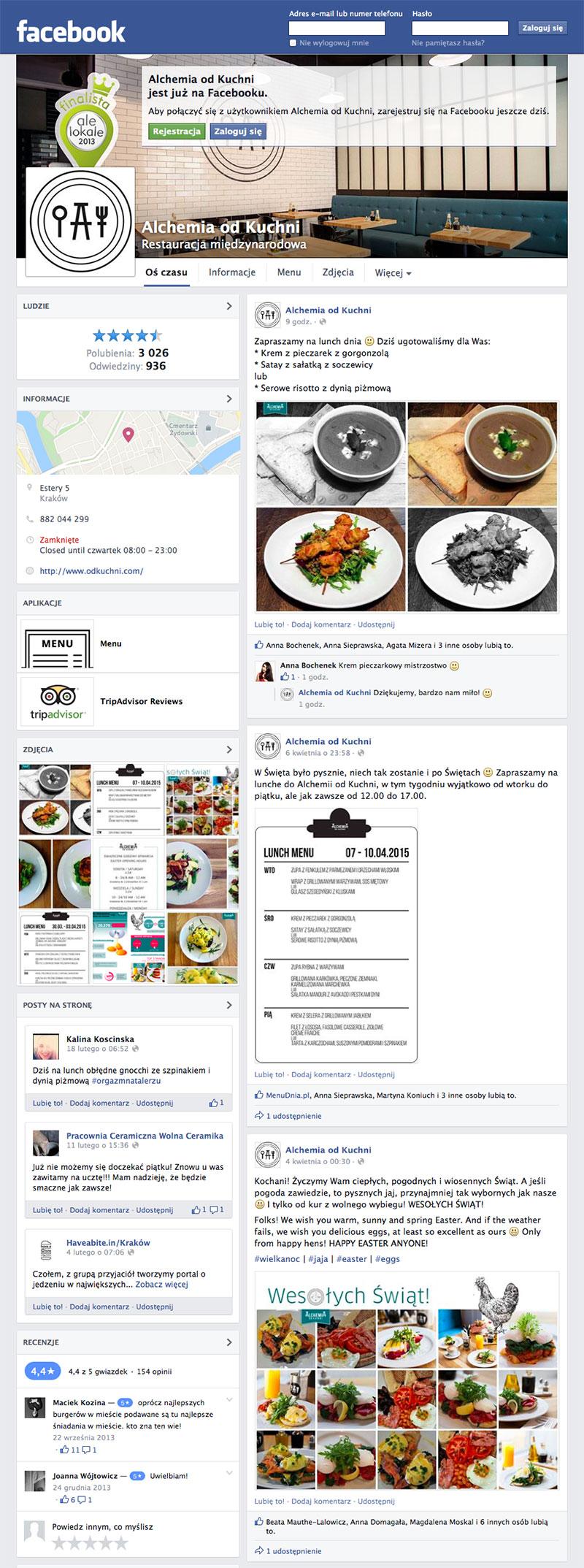 Dorota Gostylla - Alchemia Od Kuchni Facebook fanpage