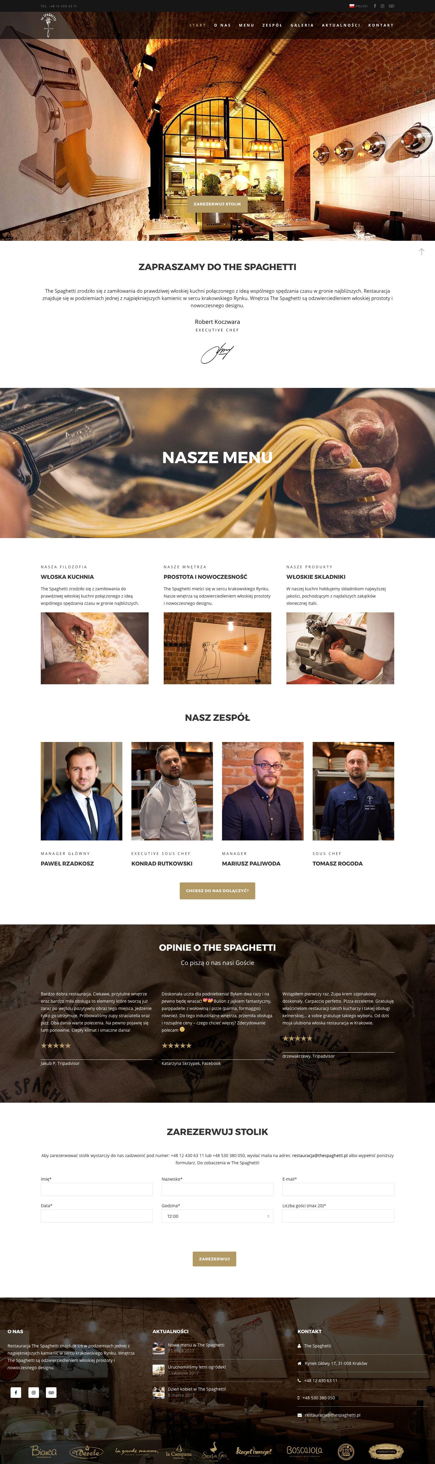 Dorota Gostylla - Restauracja The Spaghetti
